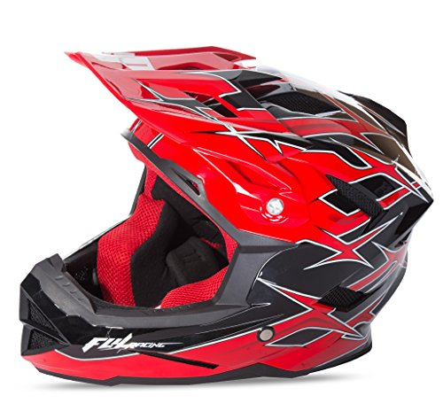 Fly 2017 por defecto MTB BMX Downhill casco completo de adultos Shaun Palmer Negro/Rojo, color Shaun Palmer Black/Red, tamaño Small