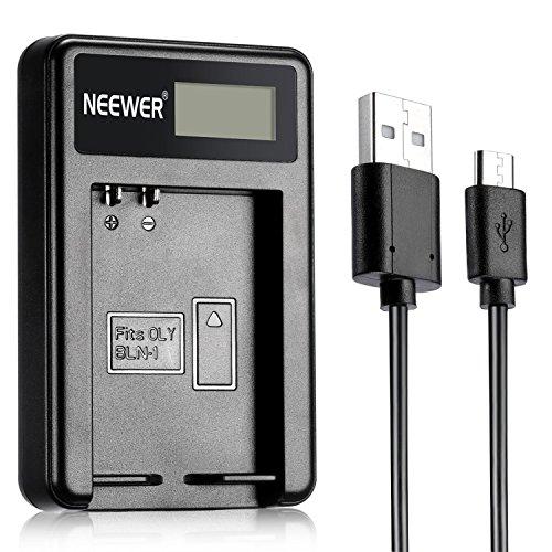 Neewer® NW-BLN1 Portátil USB Cargador de Batería Compatibal con BLN-1 Batería de Cámara para Olympus BLN1, BCN1, PEN E-P5, OM-D E-M1, OM-D E-M5 Batería de Videocámara Digital