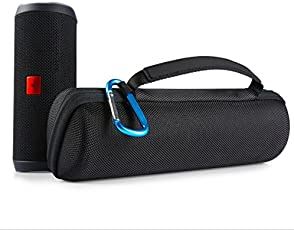 Delhisalesmart Hard Travel Storage Carry Case For Jbl Flip 4, 3, 2 Waterproof Portable Outdoor Speaker Travel Case- Black(Speaker Not Included)