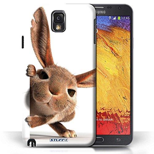Coque en plastique pour Samsung Galaxy Note 3 Collection Animaux comiques - Chien somnolent Petit lapin curieux