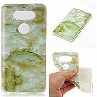 Cozy Hut Für LG V20 Handyhülle mit Marmor / Marble Design(grün / weiß) | Handytasche | | Schale | | Hülle | | Case | Handy-etui | TPU-Bumper | Soft Case | Schutzhülle Cover für den optimalen Schutz ihres LG V20 - Grüne Marmor