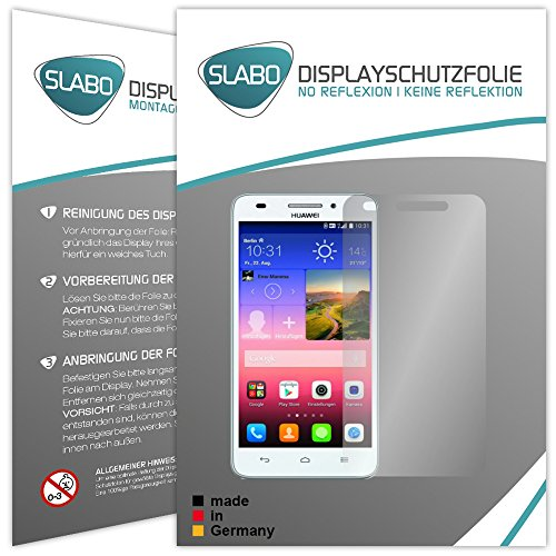 4 x Slabo Displayschutzfolie Huawei Ascend G620s Displayschutz Schutzfolie Folie