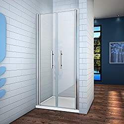 130x195cm Mamparas ducha pantalla baño 6mm Easyclean cristal templado