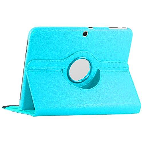 ebestStar - Compatible Coque Samsung Galaxy Tab 3 10.1 GT-P5210, 10 P5200 P5220 Housse Protection Etui PU Cuir Support Rotatif 360, Bleu [Appareil: 243.1 x 176.1 x 8mm, 10.1'']