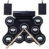 CAHAYA Elektronische Roll Up Drum Pad Kit Tragbare elektronische Trommel mit eingebautem Lautsprecher für Kinder