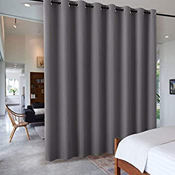 RHF Privacy Room Divider Curtain 8ft Tall x 15ft Wide: No one can See Through Total Privacy 8x15 -Black