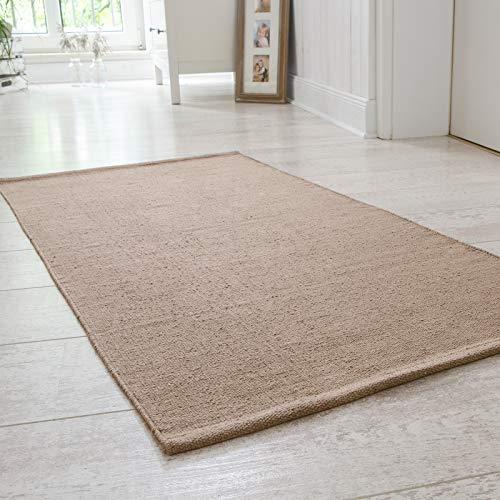 Onloom Alfombra Milo Tejida a Mano, 100% algodón, Lavable a 30°C, Größe:100x150cm, Farbe:marrón