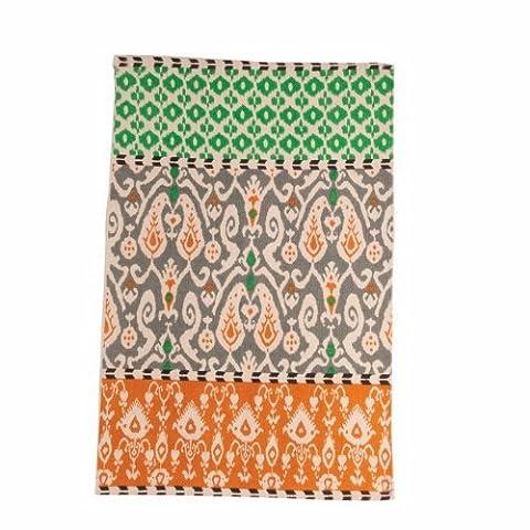 Ian Snow Cotton Printed Rug, Orange/