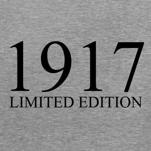 1917 Limierte Auflage / Limited Edition - 100. Geburtstag - Damen T-Shirt - 14 Farben Sportlich Grau