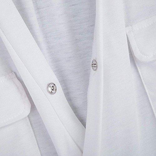 Mangotree Oberteil Damen Sommer Tiefe V Ärmellos T-Shirts Weste Trägershirts Beiläufige Spitzenbluse mit Taschen Schwarz