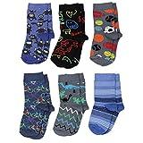 TupTam Unisex Kinder Socken Bunt Gemustert 6er Pack, Farbe: Junge 2, Größe: 27-30