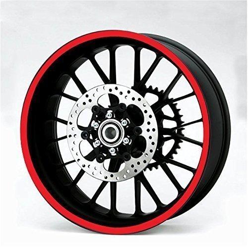 Resistente Riflettente ROSSO 600cm Strisce Decalcomania Adesivo Auto Moto Quad Trike Cerchi Carrozzeria Carburante Serbatoio