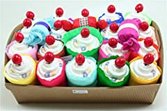 Idea Regalo - Torta di Pannolini Chicco Mini Cupcake