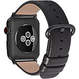 kompatibel Apple Watch Armband in 15 Farben, Fullmosa® Uhrenarmband 38mm(40mm)/42mm(44mm) Ersatz Apple Watch Lederarmband mit Edelstahlschließe für iwatch Series 4 3 2 1,Space grau+Spacegrauschnalle 38mm/40mm