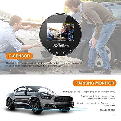 FLYLINKTECH-DashCam-1080P-Full-HD-Auto-Kamera-170-Weitwinkelobjektiv-Mini-DVR-Fahren-Rekorder-mit-WDR-Bewegungserkennung-Parkmonitor-Loop-Aufnahme-Nachtsicht-und-G-Sensor