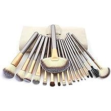 Hotrose® 18 pcs Pincel de maquillaje con sombra de ojos Delineador de ojos del cepillo del labio para las mujeres