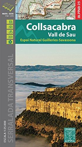 Collsacabra, Vall de Sau, mapa excursionista. Escala 1:25.000. Editorial Alpina. (Mapa Y Guia Excursionista) por VV.AA.