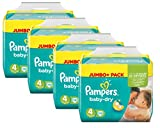 Pampers Baby Dry Größe 4 Maxi 7-18kg Jumbo Plus Pack (4 x 78 Windeln )
