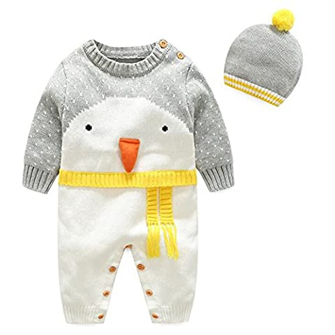 yuxin Christmas Cartoon Pattern O-neck Baby Knit Sweater Rompers Choice 10