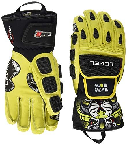 Level Herren Worldcup CF Handschuhe, Yellow, 7,5 - Level-herren Race-handschuh