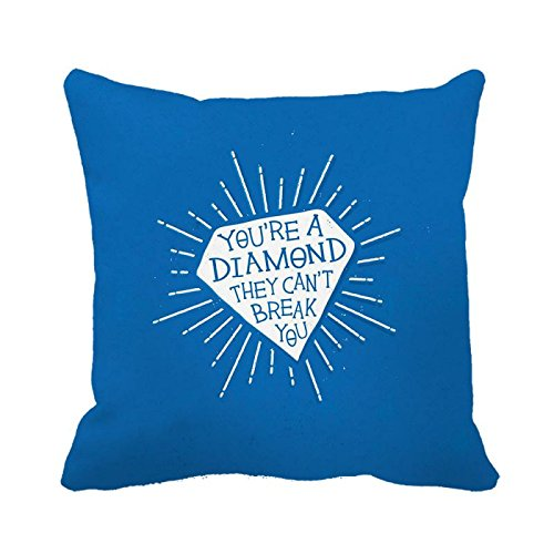 A Throw Pillow Cover sei un diamante cuscino 45,7x 45,7cm