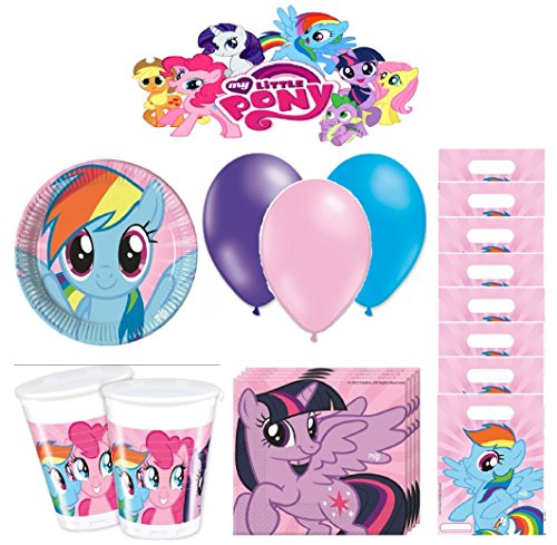 My Little Pony kit Anniversaire 8 Personnes