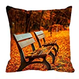 meSleep Herbst Stühle 3D Kissenbezug Orange Polyester Stoff Wurf Kissen Square Kissen Fall 12-24 Zoll Dekor