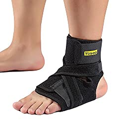 Yosoo Ankle Brace - Breathable Neoprene Adjustable Compression Ankle Support Stabilizer for Ankle Sprain Tendons One Size Black