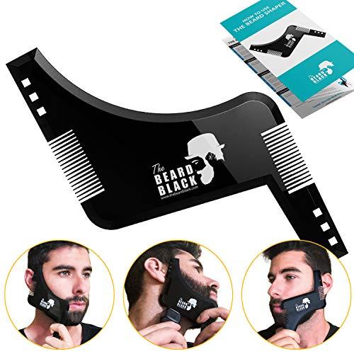The Beard Black - Peine Plantilla Guía Afeitado Barba