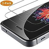 Syncwire iPhone 5s / 5 / SE Panzerglas [2 Stück] - HD Panzerglasfolie 2.5D Displayschutzfolie für iPhone 5s / 5 / SE [Bruchsicher, blasenfrei, 3D-Touch, Case-freundlich, Einfache Installation]