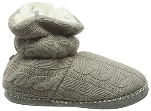 Donna Jo & Joe commutano Maglione in pile House Bootie Pantofole austwick Grey