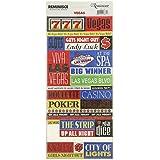 Signature série voyage Stickers-Vegas citation