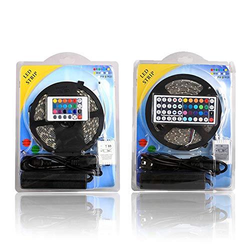 Preisvergleich Produktbild YWJ LED-Lichtleisten-Kit,  wasserdichte LED-Leuchten 16.4 Ft,  5050 RGB 300leds mit 44 Tasten IR-Fernbedienung