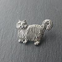 Pewter Cat Brooch Pin, Designed and handmade in Scotland by SJH Designs