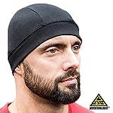 Bike Warm Cap für Outdoor Fans - Windstopper Mütze / Skull Caps, Schwarz, 2er-Pack, als Helm-Liner oder Fahrradhelm Mütze nutzbar, ideal als Kopfbedeckung für's Laufen oder als Helm-Unterziehmütze