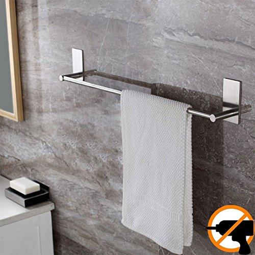 Ruicer Handtuchstange Handtuchhalter Ohne Bohren aus Gebürstetem Edelstahl, 70CM,