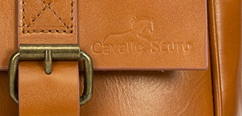 Cavallo Scuro , Borsa Messenger  Unisex �?Adulto DoubleBuckle - Coffee