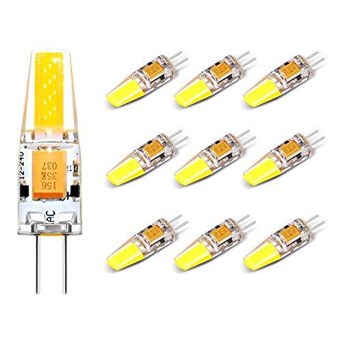 Garage Storage-base (10 Pack G4 3W Led Lampe Kaltweiß, Lifebee Hallogenlampen Licht LED Birne 220 LM AC/DC 12V, nicht dimmbar, LED Leuchtmittel)