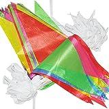 G2PLUS Schöne Wimpelkette 38 M Fahnen Girlande Wimpel mit 100 Stück Farbenfroh Wimpeln ideal für Geburtstagsparty; Feiern
