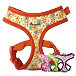 IPuppyone Adjustable Dog Soft Harness Crazy Daisy Size:Small Color:Purple 5