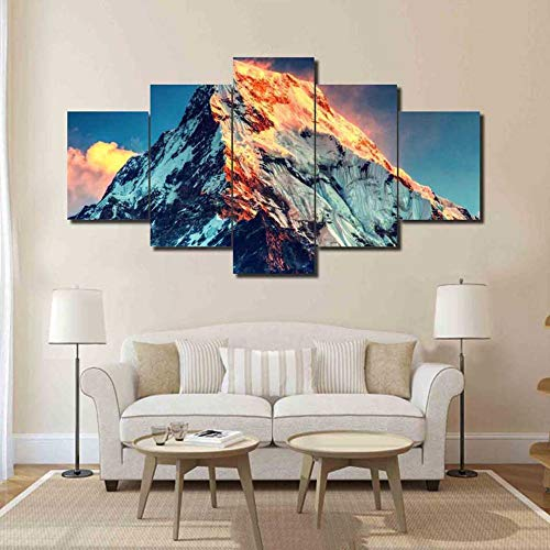 Decorazioni per la casa Soggiorno Tela 5 Pannelli modulari Everest Paesaggio Wall Art Poster Immagini Moderne di Stampa HD