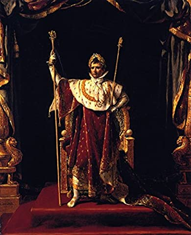 Napoleon I In His Imperial Robes - By Jacques-Louis David - impressions sur toile 16x20 pouces - sans cadre