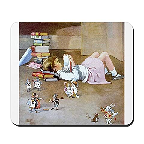 cafepress–Voyage à Wonderland–Tapis de souris en caoutchouc antidérapant, Tapis de Souris Gaming