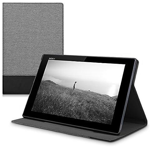 kwmobile Hülle für Sony Xperia Tablet Z4 - Tabletcover Slim Case Tablet Schutzhülle - Smart Cover Tabletcase Grau
