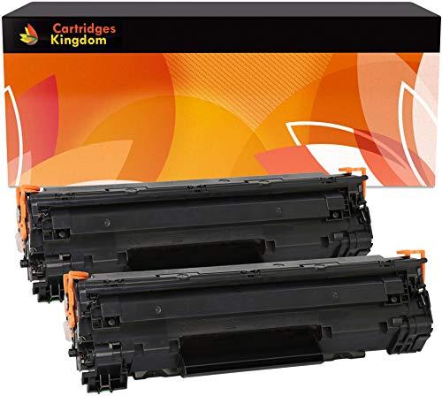 Cartridges Kingdom 2-er Pack Toner kompatibel zu HP CB435A 35A für HP Laserjet P1005, P1006, P1007, P1008, P1009, Canon i-SENSYS LBP-3010, 3100, LaserShot LBP-3018, 3108, 3050, 3150, 3010, 3100 - Hp 35a Laserjet