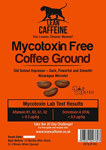 Lean Caffeine Rainforest Alliance Certified Bulletproof Optimised Old School Espresso Coffee (ground or whole beans). Live the Good Life!