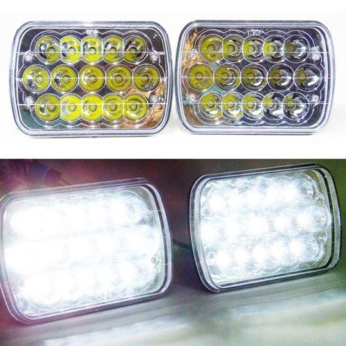 Coppia di 7pollici da 6pollici LED Fari HID lampadine trasparente sigillato fascio proiettore