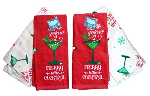 St. Nicholas Square Weihnachten Have Yourself A Merry Little Cocktail Küche Handtücher, zwei Sets (2). Holly Candy Dish