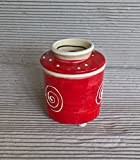 kleine französische Wasserbutterdose für 125g Butter in rouge Wassergekühlte Dose