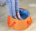 Ultra portable folding basin foot soaking basin wash bucket outdoor travel camping fishing can be filled with hot water. For Feet Hand Body Soaking Size:(31*209*27cm) Color : Will be sent as per the availability of the stock